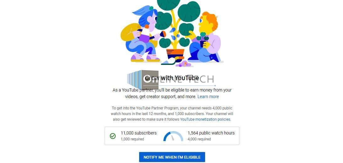 تحقيق شروط الربح من اليوتيوب